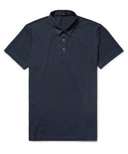 Theory | Slim-Fit Poplin-Trimmed Pima Cotton-Piqué Polo Shirt