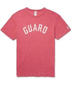 Todd Snyder + Champion | Todd Snyder Champion Printed Slub Cotton-Jersey T-Shirt
