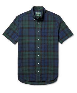 Gitman Vintage | Slim-Fit Button-Down Collar Watch Checked Cotton Oxford