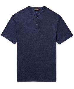 BERLUTI   Mélange Linen Henley T-Shirt