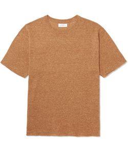 SATURDAYS NYC | Pacho Mélange Cotton And Linen-Blend T-Shirt