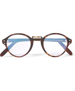 CUTLER & GROSS | Cutler And Gross Round-Frame Acetate And Burnished Tone Optical Glasses