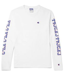 Beams | Champion Printed Cotton-Jersey T-Shirt