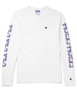 Beams | Champion Printed Cotton-Jersey T-Shirt