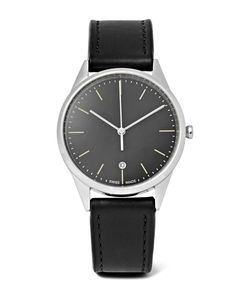 Uniform Wares | C36 Stainless Steel And Leather Watch