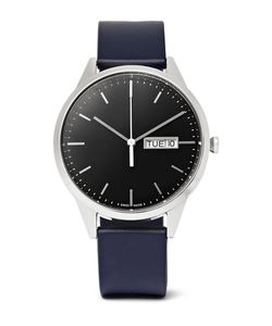 Uniform Wares | C40 Day-Date Stainless Steel And Rubber Watch