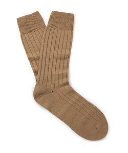 PANTHERELLA | Packington Ribbed Merino Wool-Blend Socks