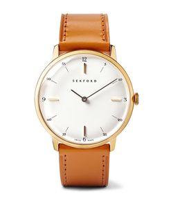 Sekford | Type 1a Pvd-Plated Stainless Steel And Leather Watch