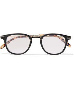 Garrett Leight California Optical | Kinney Combo Round-Frame Acetate Optical Glasses
