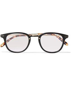Garrett Leight California Optical   Kinney Combo Round-Frame Acetate Optical Glasses