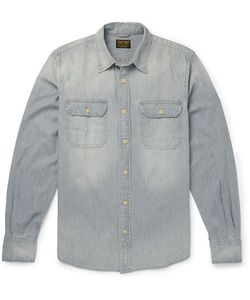 JEAN SHOP | Slim-Fit Washed-Denim Shirt