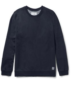 Folk | Elbow-Patch Cotton-Blend Jersey And Shell Sweatshirt