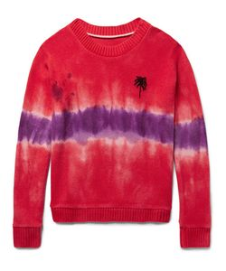 The Elder Statesman | Tie-Dyed Palm Tree-Intarsia Cashmere Sweater