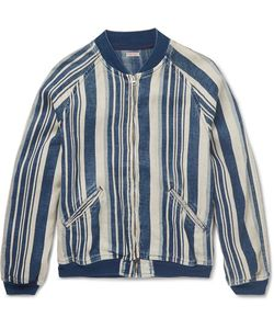 Kapital | Striped Linen Bomber Jacket
