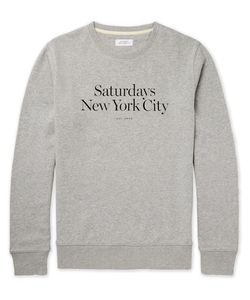 SATURDAYS NYC | Bowery Miller Printed Loopback Cotton-Jersey Sweatshirt