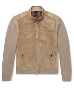 Tom Ford | Suede-Panelled Cashmere And Linen-Blend Jacket