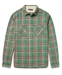 ALEX MILL | Checked Cotton-Flannel Shirt