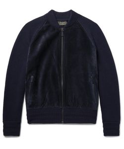 BERLUTI | Suede-Panelled Wool And Cashmere-Blend Bomber Jacket