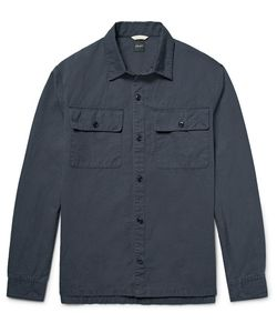 Albam | Maritime Slub Cotton And Linen-Blend Overshirt
