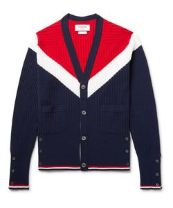 Thom Browne | Colour-Block Cashmere Cardigan