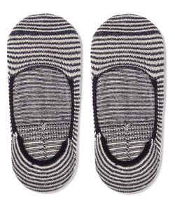 Anonymous Ism | Striped Cotton-Blend No-Show Socks