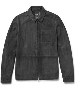 TODD SNYDER | Suede Shirt Jacket