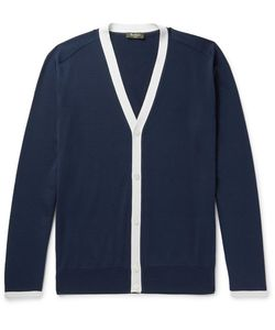BERLUTI | Contrast-Trimmed Silk And Cotton-Blend Cardigan