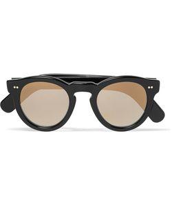 CUTLER & GROSS   Cutler And Gross Round-Frame Acetate Mirrored Sunglasses