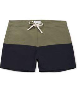 SATURDAYS NYC | Ennis Short-Length Colour-Block Swim Shorts
