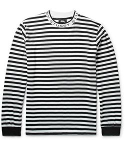 Stüssy   Striped Cotton-Jersey T-Shirt