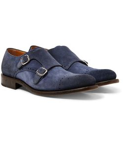 O'Keeffe | Bristol Washed-Suede Monk-Strap Brogues