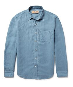 MOLLUSK | Slim-Fit Slub Chambray Shirt