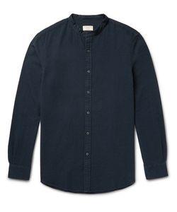 Club Monaco | Slim-Fit Grandad-Collar Cotton-Seersucker Shirt