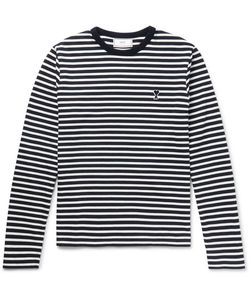 Ami | Slim-Fit Striped Cotton-Jersey T-Shirt