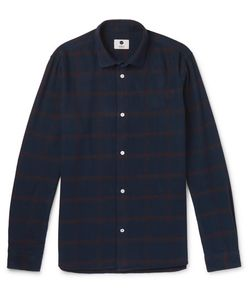 NN07 | Alberto Checked Brushed Cotton-Flannel Shirt