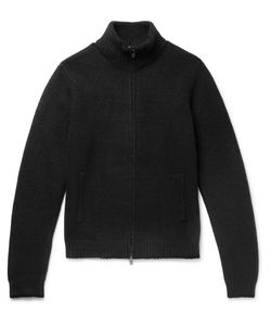 TODD SNYDER | Stretch Wool-Blend Zip-Up Sweater