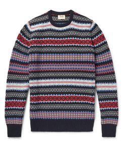 William Lockie   Edward Fair Isle Cashmere Sweater