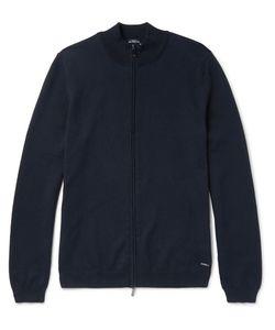HUGO BOSS | Slim-Fit Cotton Zip-Up Sweater