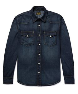 JEAN SHOP | Washed-Denim Western Shirt