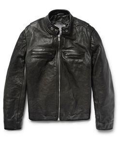 JEAN SHOP | Full-Grain Leather Café Racer Jacket