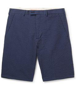 Private White V.C.   Private V.C. Riviera Slim-Fit Cotton-Seersucker Chino Shorts
