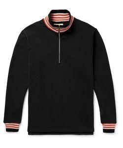 Noon Goons | Court Loopback Cotton-Jersey Half-Zip Sweatshirt