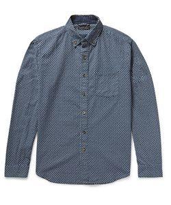 ALEX MILL   Button-Down Collarprint Cotton Shirt