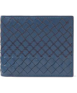 Bottega Veneta | Embroidered Intrecciato Leather Billfold Wallet