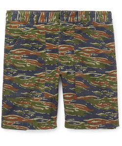J.Crew | Slim-Fit Camouflage-Print Stretch-Cotton Cargo Shorts