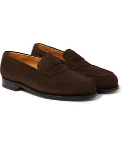 J.M. Weston | The Moccasin 180 Suede Loafers