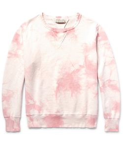 Remi Relief | Distressed Tie-Dyed Loopback Cotton-Jersey Sweatshirt