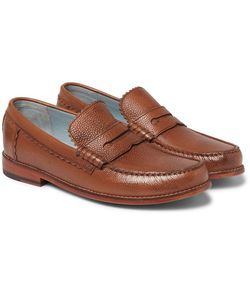Grenson | Ashley Pebble-Grain Leather Penny Loafers