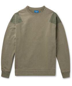 Beams   Ripstop-Panelled Loopback Cotton-Jersey Sweatshirt