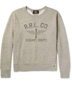 RRL | Printed Mélange Fleece-Back Cotton-Blend Jersey Sweatshirt